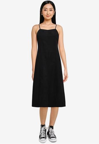 Heather black Sleeveless Midi Dress 7F3B7AA8A322C2GS_1
