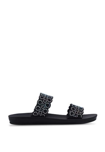 Noveni black Rhinestone Sandals 35191SH4B01E3AGS_1