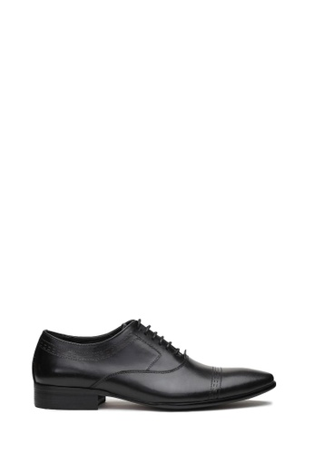 Kings Collection black Vicente Derbies Shoes 59E5ESHA32768DGS_1