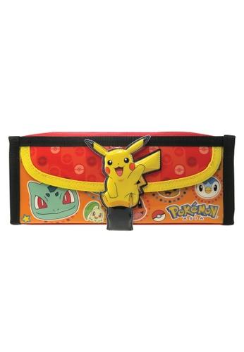 Pokemon black and red Pokemon Square Pencil Bag With Pocket 3DAF0KC6D6DC5DGS_1