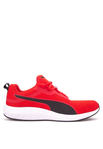 Puma white and red Flare 2 Running Shoes PU758SH04CKPPH_1