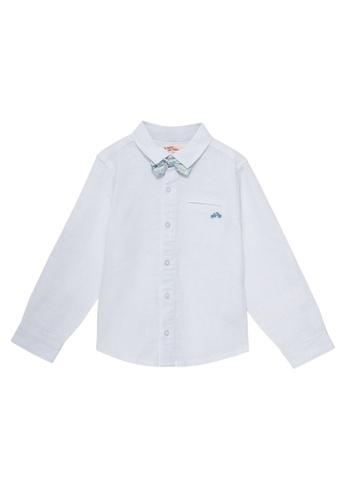 Du Pareil Au Même (DPAM) white Bow Tie Shirt 8FBC0KAC263D15GS_1