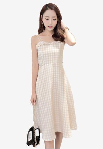 Lara multi Invisible zipper Harness One piece Dress for Women E53A6AAEFDC864GS_1