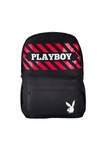 Playboy black Casual Backpack 8E6E6ACC95C082GS_1