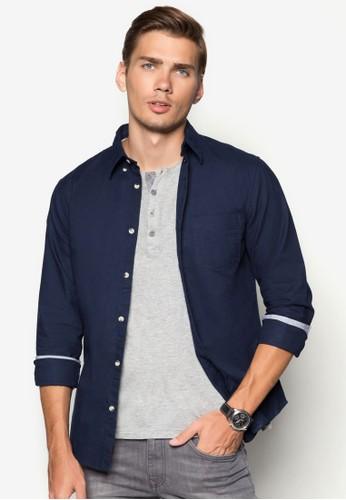 牛津長袖襯衫, 服飾, 襯zalora 台灣門市衫
