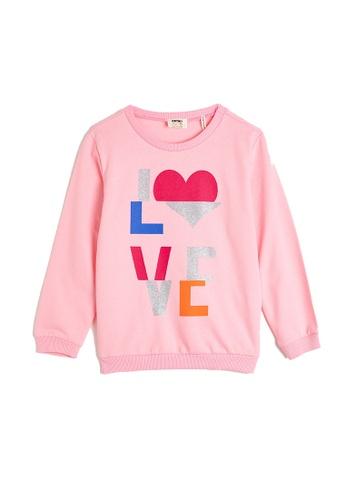 KOTON pink Casual Sweatshirt EDCADKAE93E44FGS_1