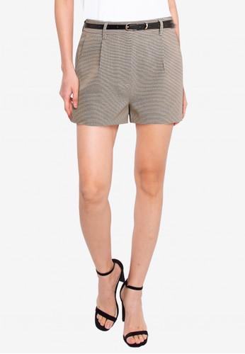 ZALORA BASICS multi Tailored Shorts With Belt 493D6AA18EA14AGS_1