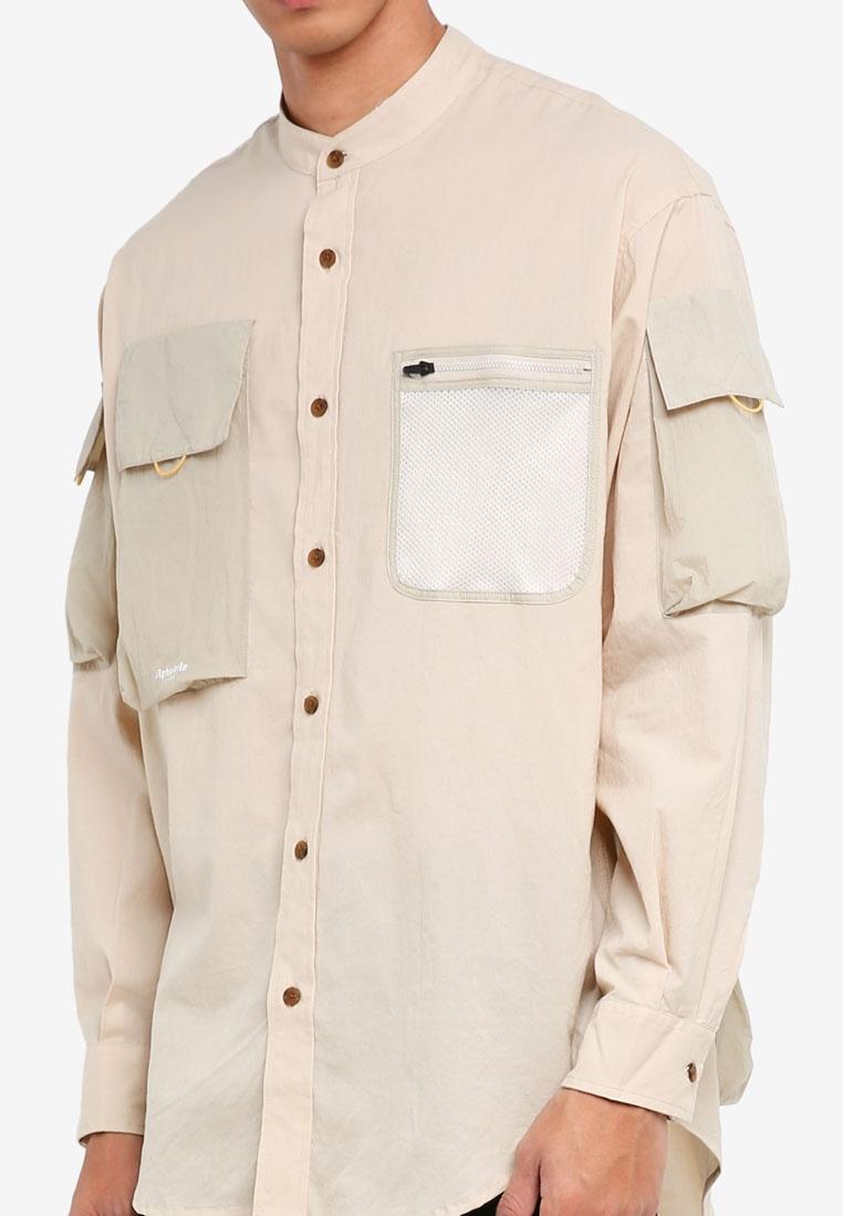 Shirt Aisley Style Alpha Khaki Long xfXHqvUR