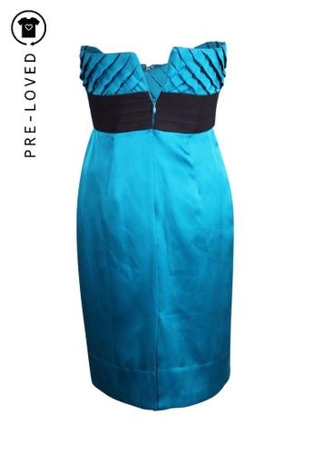 Shoshanna blue Pre-Loved shoshanna Bustier Silk Dress 9470FAAF921D4DGS_1