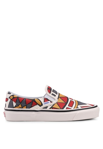 VANS white and multi Classic Anaheim Factory Slip-On FBD4BSH941E221GS_1