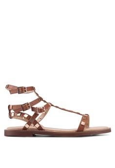 ebf0e6c8b04 River Island brown Faith Studded Gladiator Sandals AD8DASH9171A65GS 1