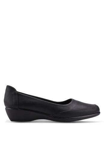 Noveni 黑色 舒適楔型鞋 98E61SH56DC129GS_1
