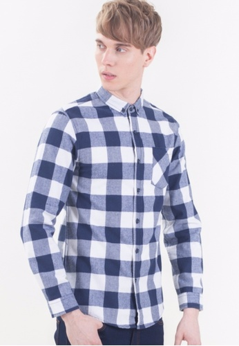 Drum Classical Cherks Long Sleeve Shirt-NBL DR425AA40BIDMY_1