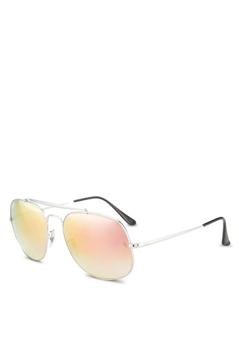 Ray-Ban silver General RB3561 Sunglasses RA896GL03GRCMY_1