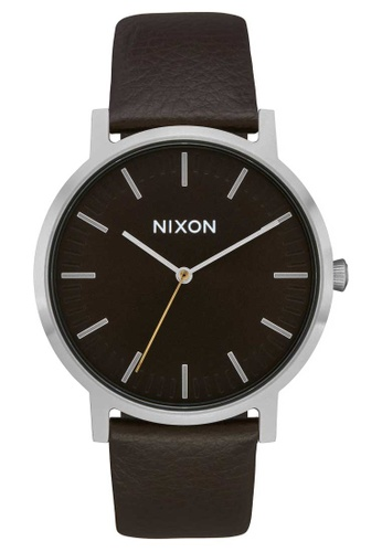 Nixon multi Nixon - Porter Leather Watch - Dark Cedar / Dark Brown (A10582986) CCD8FACD20BF0FGS_1