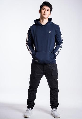 L.I.M.I.T.E 藍色 男裝印花有帽衛衣 27638AA5EE7D5BGS_1