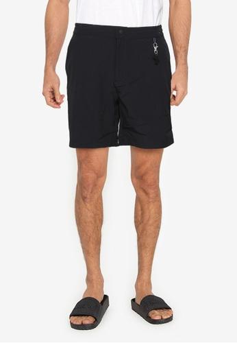 Springfield black Quick Dry Stretch Hybrid Swim Shorts 244BAUSDBBD269GS_1
