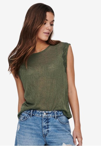 ONLY green Lace Detail Top 11276AA6F85C03GS_1