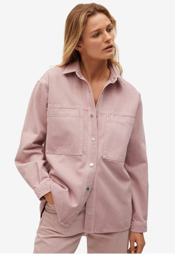 Mango purple Oversized Denim Overshirt 59458AAFC1F02BGS_1