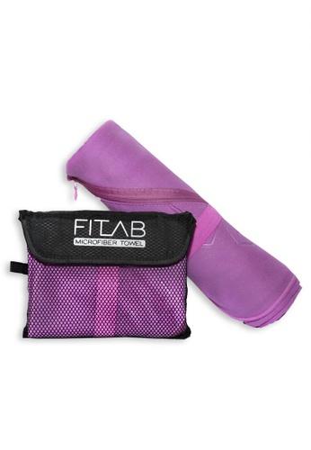 Fitlab purple Microfiber Sports Towel 4436FHL60A99E9GS_1