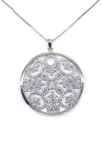 Her Jewellery white and silver Agalia Pendant (White Gold) HE210AC0FUTZSG_1