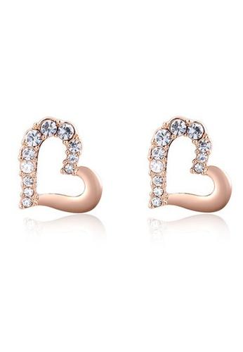 Kings Collection gold Austrian Crystal Heart Earrings (KJEA18011a) 6959FAC5ED1082GS_1