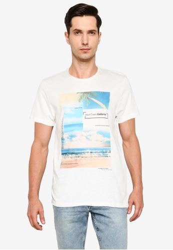 LC Waikiki 米褐色 Printed Crew Neck T-Shirt E64D8AA63FE968GS_1