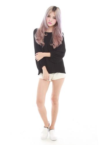 Sophialuv black Marcela Pleated Puff sleeve top in Black 0C194AAC1852EDGS_1