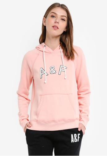 Abercrombie & Fitch pink Long Life Logo Pullover 3331BAA1F48587GS_1