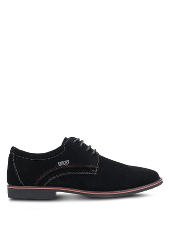 Knight black Lace Up Business Shoes KN875SH0RF94MY_1