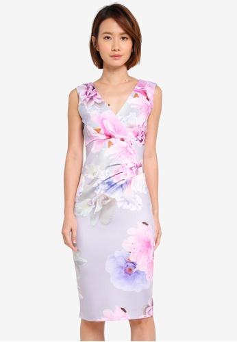 Dorothy Perkins multi Grey Megan Bodycon Dress 7B266AAAA942AAGS_1