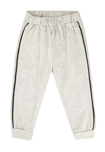 FOX Kids & Baby grey Newborn Side Stripe Drawstring Jersey Pants 25F4CKA0B814B0GS_1