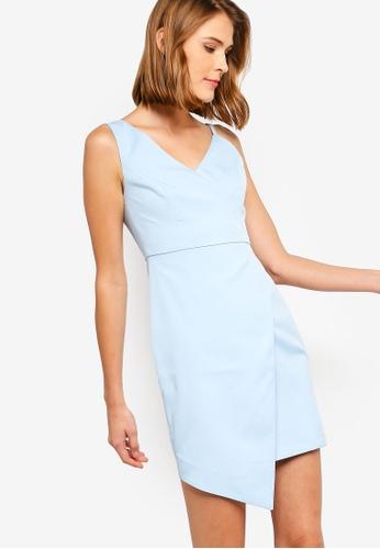 ZALORA 藍色 不規則洋裝 AD2EEAAEF63DFDGS_1