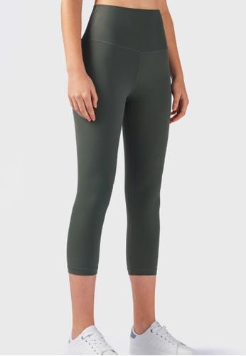 B-Code green ZUU3027-Lady Quick Drying Running Fitness Yoga Leggings-Green 293A1AA08DBFFCGS_1