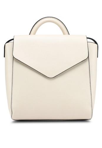 Mango beige Front Lapel Backpack 9D0A1AC05B5C32GS_1