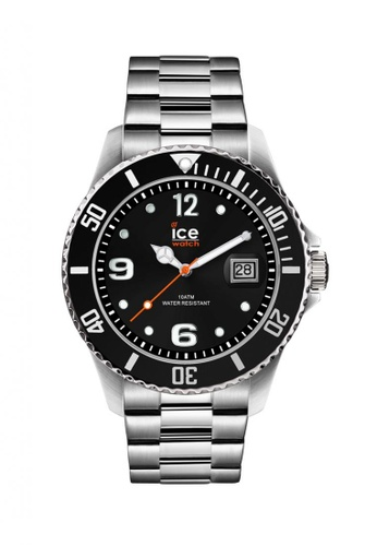 Ice-Watch black and silver Ice-Watch ICE steel - Black Silver (Large) 0A0DBAC0B80260GS_1