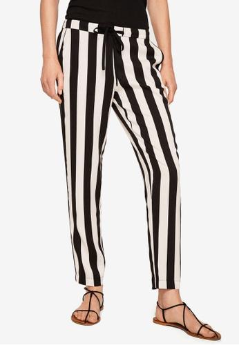 MANGO white Drawstring Flowy Trousers A6C74AA7FF13D5GS_1