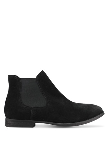 Selected Femme black Beathe Chealsea Suede Boots SE157SH0S40UMY_1