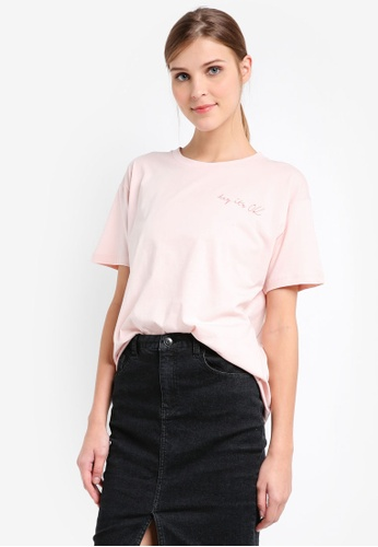 ONLY pink ONLY Hay It's OK Tee ON573AA0SKRCMY_1