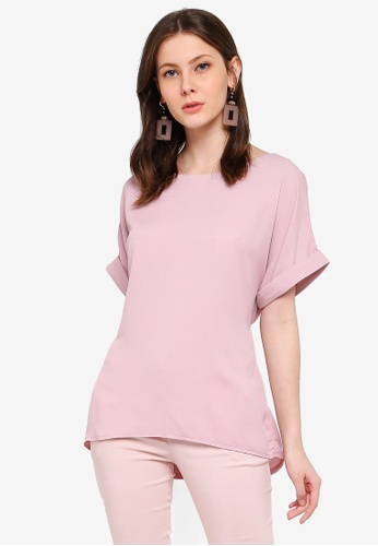 FORCAST pink Avianna Tie Waist Top 123C0AA7C944CAGS_1
