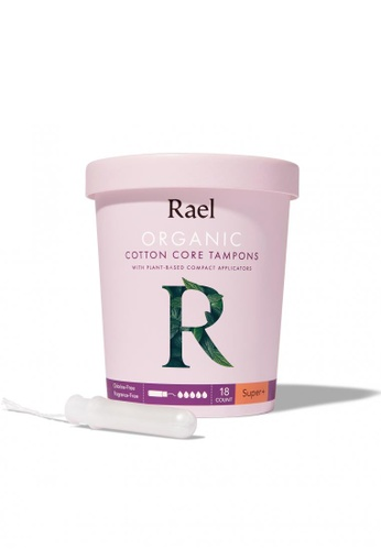 Rael Rael Organic Cotton Tampons with Plant-based Compact Applicator - Super Plus 18s D77D5ESADE9D64GS_1