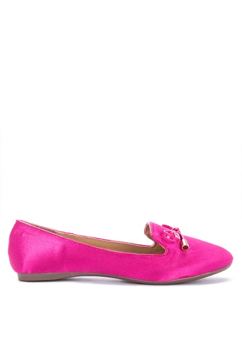 Chloe Edit pink Foldable Ballet Shoes with Padded Insole and Bow Flats 8EB5FSHFBB2CBDGS_1