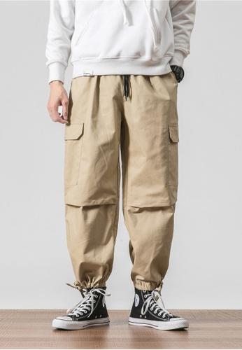 hk-ehunter beige Men's Front Pocket Pants 3138AAAFD9F6B6GS_1