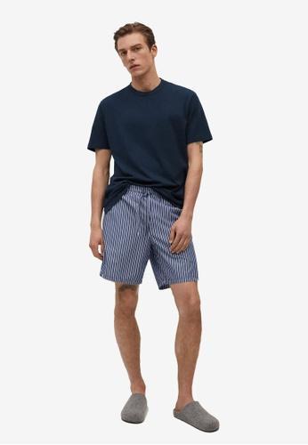 MANGO Man blue Cotton Pyjama Pack 6AEF2AA700E4ECGS_1