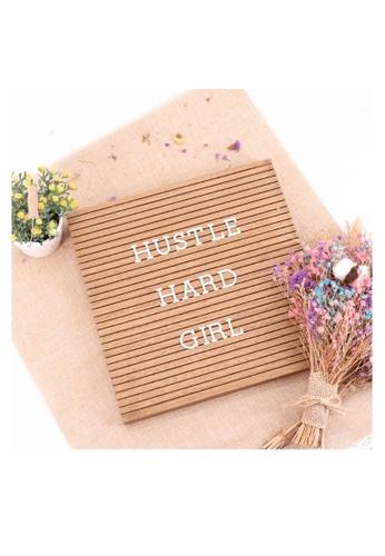 Klosh Letter Board - Dark Wood MDF 0FD5AHL2598202GS_1