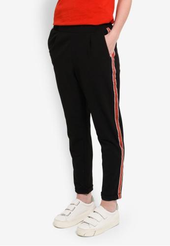 LC Waikiki black Striped Viscose Carrot Trousers ECA25AA59EED0CGS_1