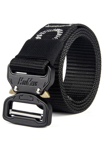 """FANYU black FANYU Tactical Belt for Men Adjustable Nylon Military Webbing Belt with Heavy Duty Quick Release Buckle 1-1/2"""" Wide 5B014ACE71BEA7GS_1"""