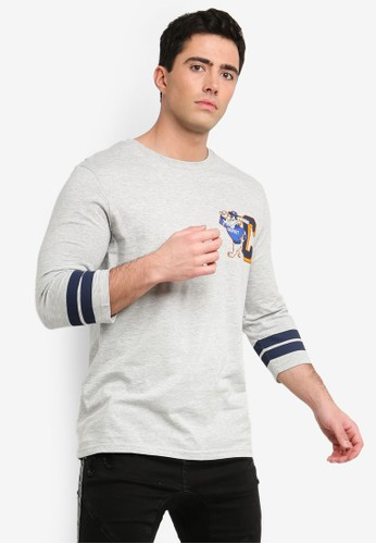 Cotton On grey Tbar 3/4 Baseball Tee 9174BAADF23765GS_1