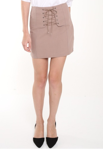JOVET brown Lace Up Skirt JO914AA0FM3GSG_1
