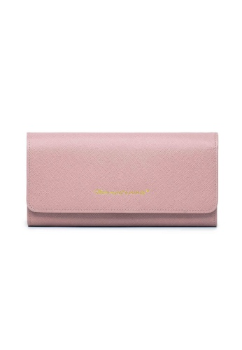 Crudo Leather Craft pink Felicità Long Leather Wallet - Saffiano Pink 6220BAC899E443GS_1